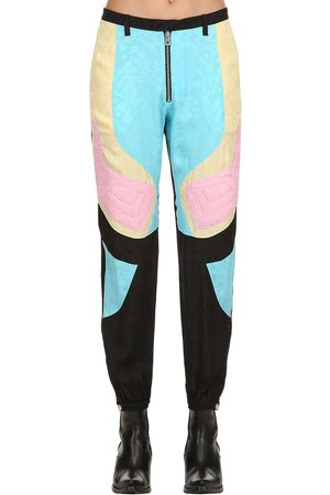 Zadig & Voltaire Printed Color Block Silk Pants