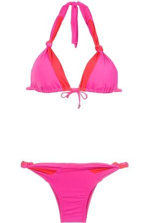 AMIR SLAMA Bikini mit Netzeinsätzen