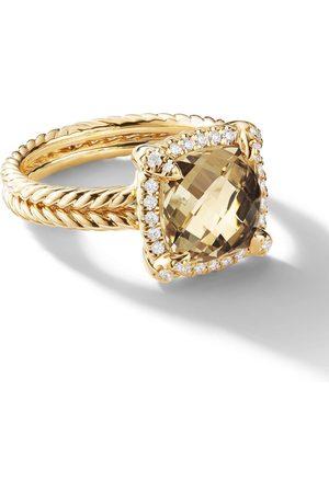 David Yurman 18kt 'Châtelaine' Gelbgoldring mit Diamanten