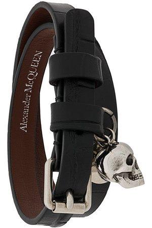 Alexander McQueen Herren Armbänder - Wickelarmband mit Totenkopf