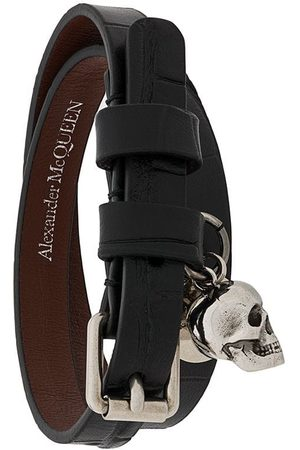 Alexander McQueen Wickelarmband mit Totenkopf