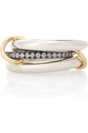 SPINELLI KILCOLLIN Damen Ringe - Ring Libra Noir aus 18kt Gold und Sterlingsilber mit Diamanten