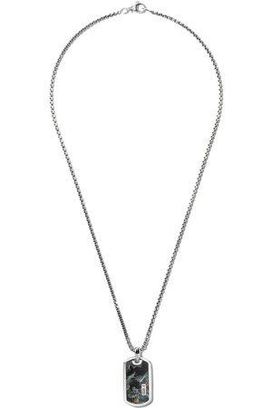 David Yurman Herren Halsketten - Exotic Stone' Anhänger aus Sterlingsilber