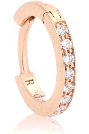 Repossi Ohrring Mini Hoop aus 18kt Rosé mit weißen Diamanten