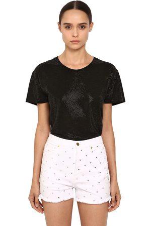 ALEXANDRE VAUTHIER Crystal Embellished Jersey T-shirt