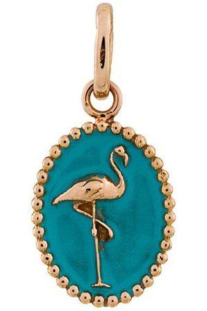 GIGI CLOZEAU 18kt Goldmedaillon mit Flamingo-Motiv