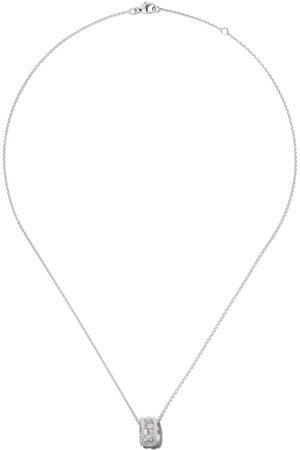 De Beers 18kt 'Dewdrop' Weißgoldhalskette mit Diamanten