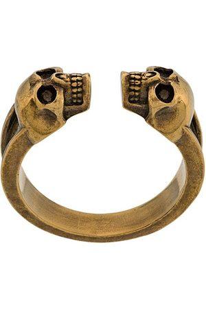 Alexander McQueen Ring mit Totenkopfmotiv
