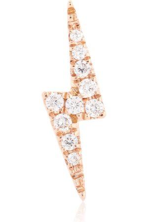 Maria Tash Einzelner Ohrring Lightning Bolt aus 18kt Roségold mit Diamanten
