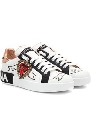 Dolce & Gabbana Verzierte Sneakers aus Leder