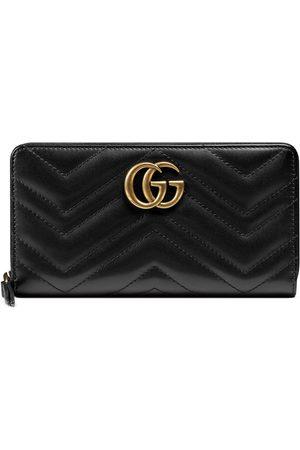 Gucci Herren Slips - Brieftasche mit Rundumreißverschluss GG Marmont