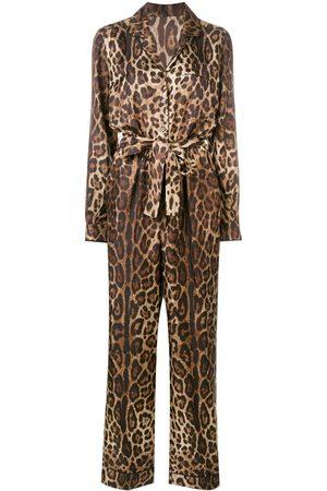 Dolce & Gabbana Jumpsuit mit Leoparden-Print