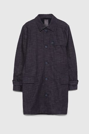 Zara RAW-TRENCHCOAT IN INDIGOBLAU