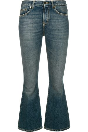 Saint Laurent Cropped-Bootcut-Jeans
