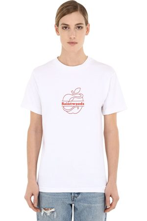 SAINTWOODS Damen T-Shirts, Polos & Longsleeves - Luisaviaroma Logo Cotton Jersey T-shirt