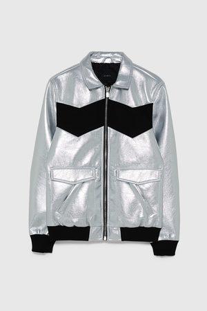 Zara Metallic-jacke in blockfarben