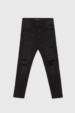 Zara Biker-jeans mit rissen