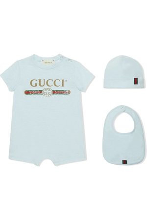 Gucci Baby cotton gift set with Gucci logo