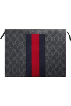 Gucci Herren Taschen - Täschchen aus GG Supreme mit Webstreifen