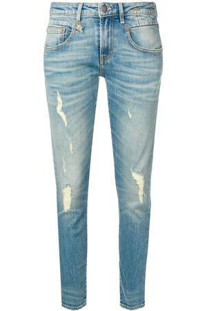 R13 Skinny-Jeans in Distressed-Optik