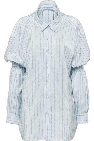 Prada Pongé-Hemd mit Ärmelhaltern