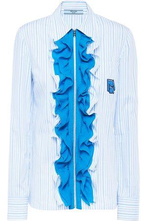 Prada Damen Blusen - Chiffonbluse mit Rüschen