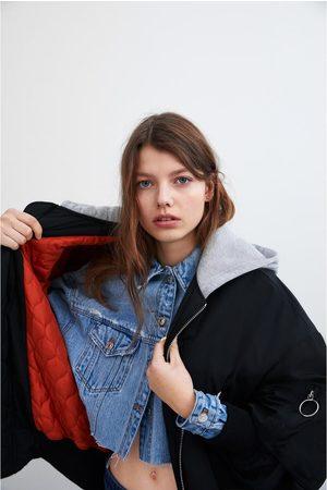 Zara Bomberjacke mit kapuze