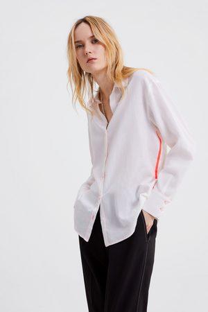 Zara Hemd mit farblich abgesetzter steppnaht