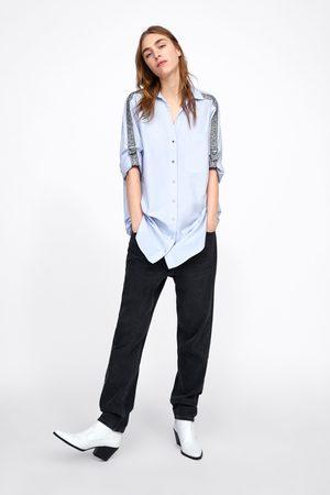 Zara Hemd mit seitenstreifen im animalprint