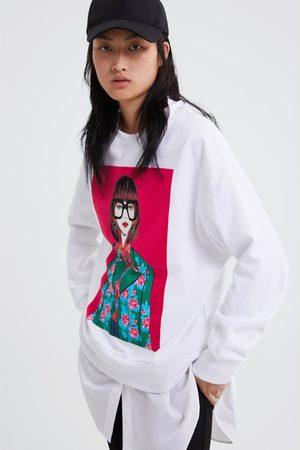 Zara Sweatshirt mit mädchenprint