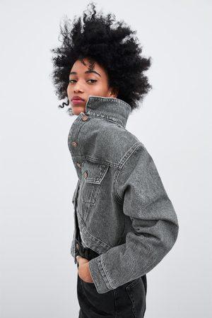 Zara Cropped-jeansjacke