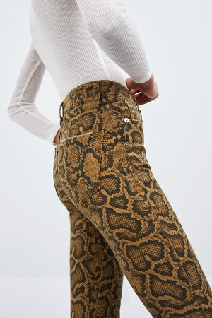 Zara Skinny-jeans mit animalprint