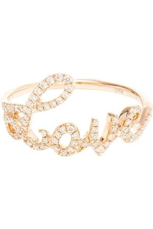 ROSA DE LA CRUZ 18kt Gelbgoldring mit Diamanten