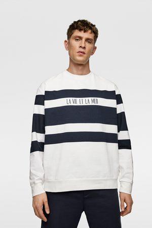 Zara Sweatshirt mit streifen in blockfarben