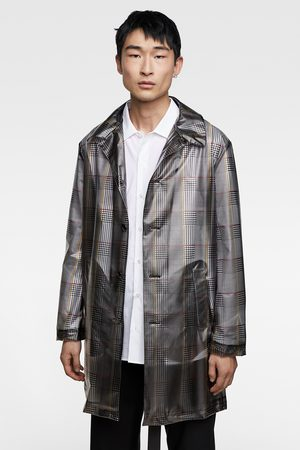 Zara Check print trench coat