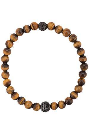 Nialaya Herren Armbänder - Armband mit Tigeraugen-Perlen