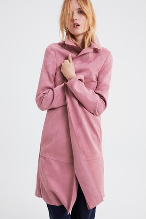 Zara mantel aus wildlederimitat