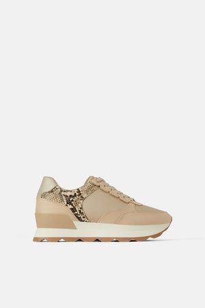 Zara Sneaker mit details mit animalprint