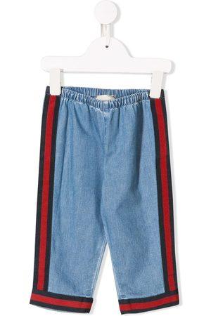 Gucci Cropped - Jeans mit seitlichen Streifen