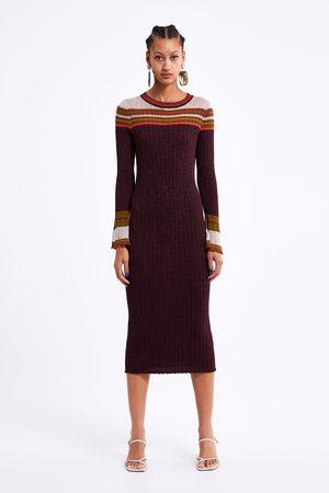 Zara Langes kleid mit glanzfinish