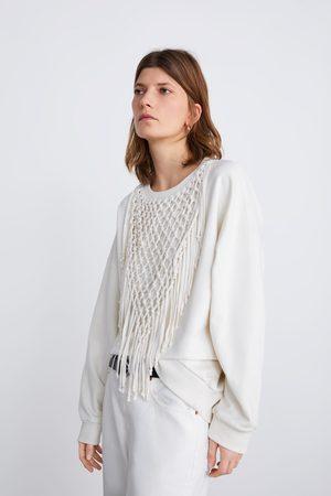 Zara Sweatshirt mit fransen
