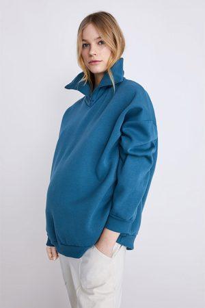 Zara Oversize-sweatshirt mit reissverschluss