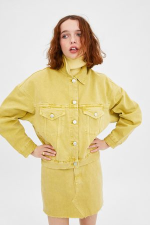 Zara Farbige jeansjacke