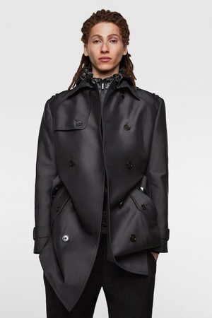 Zara Doppelreihiger trenchcoat in satin-optik