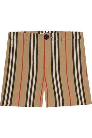 Burberry Gestreifte Shorts aus Baumwolle