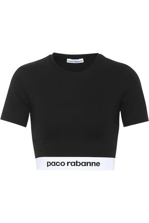 Paco rabanne Cropped-Top aus Jersey