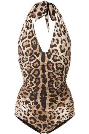 Dolce & Gabbana Wendbarer Badeanzug mit Leo-Print