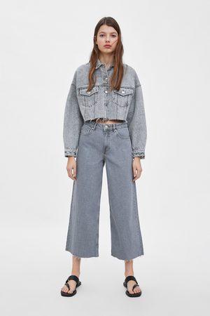 Culotte jeans mit mittelhohem bund