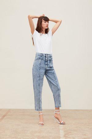 Zara Jeans zw premium '80s baggy acid blue