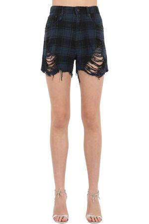 R13 Shorts Aus Baumwolldenim